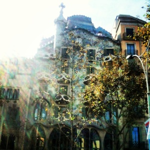 A Beautiful example of Gaudi's work that decorates the city